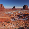Monument Valley, with fresh winter snow