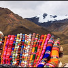 Colorful Peruvian Knittings and Snow-capped Mountains, La Raya