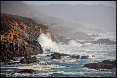 Powerful Tidal Waves, Soberanes Point, Garrapata State Park  Big Sur, California