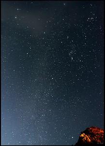 Starry night sky before sunrise, Haleakala National Park  Maui, Hawaii
